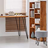 4x Haarnadel Tischbeine Möbelfuß Tischgestell Hairpin Leg Möbelfüße| SCHWARZ MATT | Höhe 71cm...