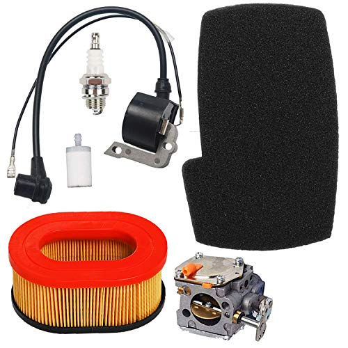 Price comparison product image Carkio Air Filter Combo Pre Cleaner Carbureor Ignition Coil Spark Plug Fuel Filter Tune Up Kit Compatible with Partner K650 K700 Cut-Off Saws Engine 506-22-42-01 506 22 63-01
