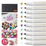 Wanap MetallicStifte, 1-2mm Feiner Spitze PremiumMetallicMarkerStifte 10 Colors,...