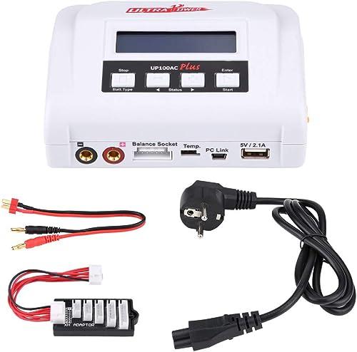 barato RC Cargador, 10A 100W Balance Cargador Discharger Discharger Discharger con Power Cable Sets para RC Batería(EU Plug)  punto de venta en línea