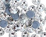 Jollin Hot Fix Diamantes de imitación de Cristal con Espalda Plana Diamante Redondo Gemas Strass, 3.2mm, SS12 1440pcs, Crystal Clear