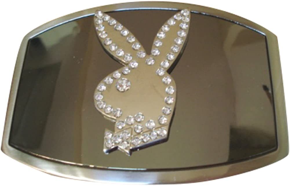 JK Max 43% OFF Challenge the lowest price of Japan Trading Men's Playboy Bunny Buckle Belt Rhinestone Gold