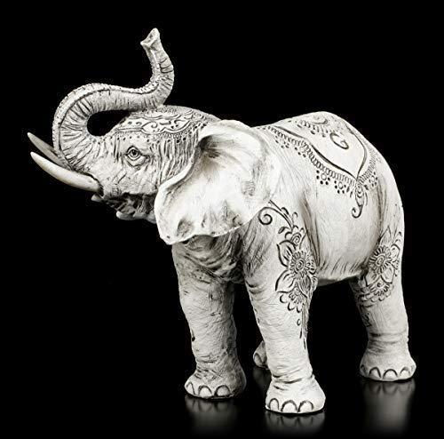 Indische Elefanten Figur - Henna | Tierfigur, Deko-Figur, handbemalt