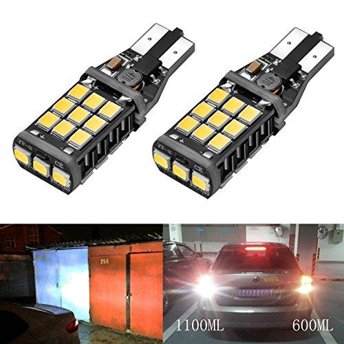 Bogao 1100 Lumens 921 912 W16W Canbus Error Free Chipset estremamente luminosi 21 SMD 2838 LED Bulb Light per backup luce retromarcia, Xenon White (2 pezzi)