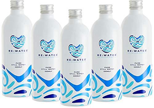 Re:Water Bronwater, Natuurlijk Bronwater, Fles van 100% Gerecycled Aluminium, Verpakt per 12 stuks (12 x 500 ml…