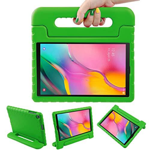 LEADSTAR Funda para Samsung Galaxy Tab A 10.1 2019, Ligero y Super Protective Antichoque EVA Estuche Protector Diseñar Especialmente Manija Caso con Soporte para los Niños, SM-T510 / T515 (Verde)