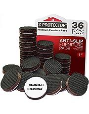 Meubelpads X-PROTECTOR - Antislippads - Premium 36 stuks 25 mm - Vloerbeschermers - Rubberen voetjes voor meubelpoten - Ideale vloerbeschermers om het meubilair op zijn plaats te houden. Stop uw meubels!