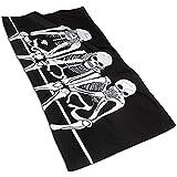 EXking DREI Schädel Bedrucken Handtücher Extra große Handtücher Schnelltrocknende Handtücher für das Gesicht, leicht