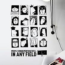 Decals Design 'Modern Art People Faces Motivational Quote' Wall Sticker (PVC Vinyl, 60 cm x 90 cm)