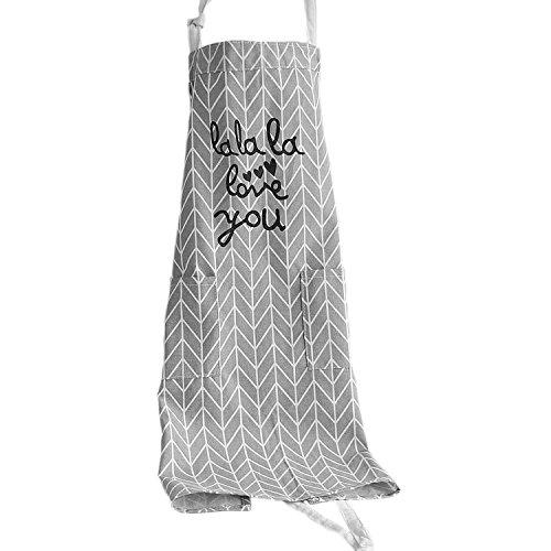 Delantales de Cocina Delantal para mujer con dos bolsillos algodón Floral patrón delantales para Restaurante Barbacoa Cocinar Hornear