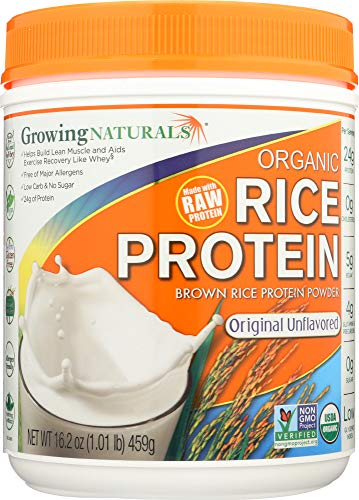 Growing Naturals (NOT A CASE) Organic Raw Rice Protein Original