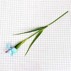 Silk Flower Arrangements Artificial and Dried Flower PU Material Artificial Irish Iris Flower Wedding Decoration Bridal Bouquet Fake Flower Home Garden Office Party Decor