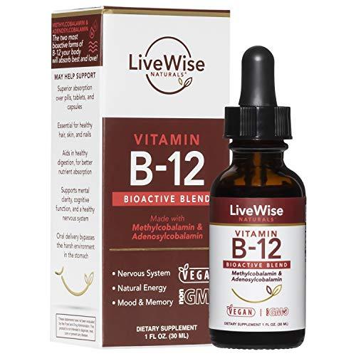 Live Wise Naturals Vitamin B12 Liquid Drops