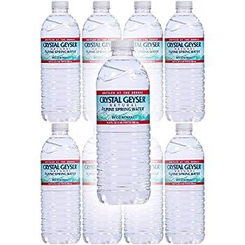Crystal Geyser Water Purified Water 16.9 Fl Oz  Pack of 8 Total of 135.2 Fl Oz