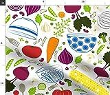 Spoonflower Stoff – Stein Lebensmittel Gemüse Küche Eat