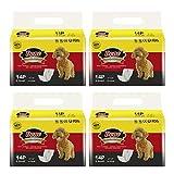 Dono Pañales Desechables para Perros envolturas para Perros para Perros Pañales Suaves súper absorbentes para Mascotas, Que Incluyen Cuatro tamaños, pañales con indicador de Humedad