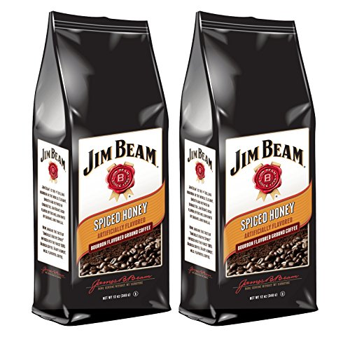 Jim Beam Spiced Honey Bourbon Flavored Ground Coffee, 2 bags (12 oz ea.)