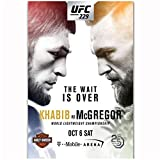Khabib Nurmagomedov vs Conor McGregor 2018 UFC 229 Evento Art Poster Light Canvas Home Decor Wall Picture Print / 50X70cm-Sin marco