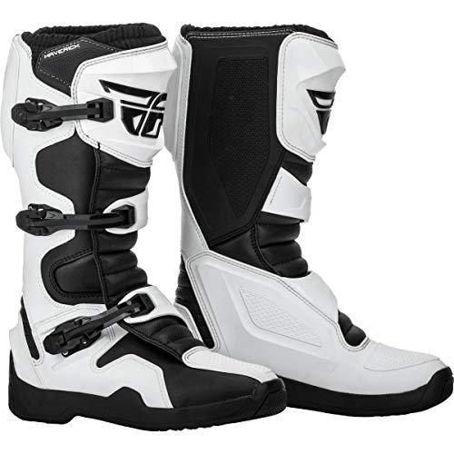 364-67508 - Fly Racing 2019 Maverik Motocross Boots US 8 White Black (UK 7)