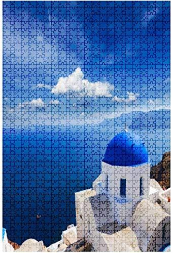 Rompecabezas de madera de 500 piezas de cúpula azul tradicional con mar...