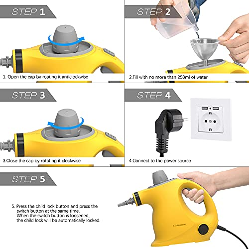 COMFORDAY Comforday Handheld Steam Cleaner,