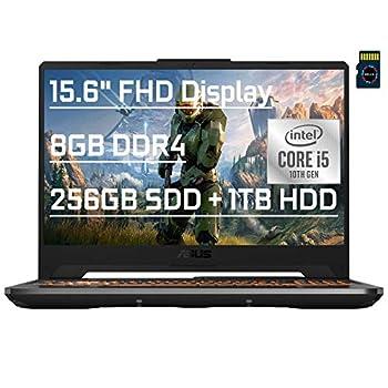 "ASUS TUF F15 Premium Gaming Laptop 15.6"" FHD 10th Gen Intel 4-core i5-10300H  > i7-8750H  8GB DDR4 256GB SSD + 1TB HDD GeForce GTX 1650 Ti 4GB Backlit USB-C Wifi6 Win10 + Delca 16GB Micro SD Card"