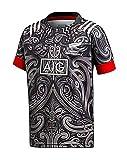 DZHTSWD 2020 Nouvelle-Zélande M  ori Rugby Jersey, Rugby T-shirt 4XL 5XL Tous Rugby graphique Noir Replica Youth Pro Jersey Boys Concours Contactez-formation Hauts, S-XXXL, Taille: 3XL, Couleur: Noir