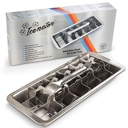 Easy Removal Metal Ice Trays - Stainless Steel Ice Cube Maker