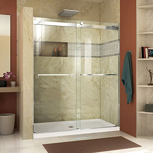 DreamLine SHDR-6360760-01 Essence 56 to 60 in. Frameless Bypass Shower Door in Chrome Finish