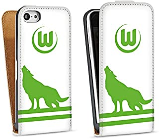 DeinDesign Tasche kompatibel mit Apple iPhone 5c Flip Case Hülle VFL Wolfsburg Fanartikel Football
