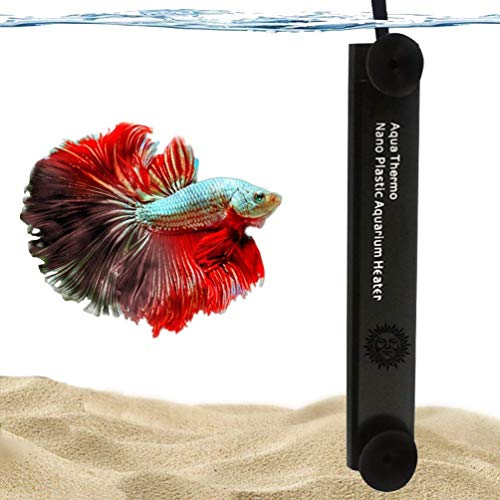 Visit the SunGrow Submersible Aquarium Heater for Feathertail Betta, 10-Watt Heater for Small Tanks (1.5-Gallons), Reaches Preset Temperature Automatically, Suction Cups Included for Easy Installation on Amazon.