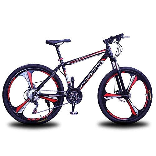 N&I Bicycle Mens' Mountain Bike - Bicicleta de montaña (cuadro de acero, 26 pulgadas, ruedas de 3 puntos, totalmente ajustable, suspensión frontal, frenos de disco de 21 velocidades), color blanco