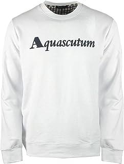 Aquascutum Box Logo White Sweatshirt