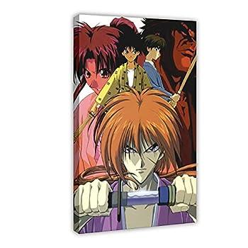 QAZSW Movie Rurouni Kenshin 6 Canvas Poster Bedroom Decor Sports Landscape Office Room Decor Gift DONGDA Poster Frame  24×36inch 60×90cm