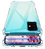 Garegce Cover per Samsung Galaxy A51, 2 Packs Vetro Temperato, Cover Trasparente Silicone in...