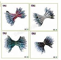 MYERZI 500ピースDC5V / DC12V 12mm WS2811 IC LEDモジュールブラック/緑/白/RWBワイヤーストリングクリスマスLEDピクセルライト。アドレス可能;防水 (Color : DC12V RWB wires)