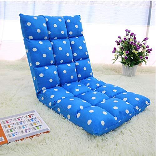 Dsrgwe Silla de Suelo Silla Acolchada Plegable for Juegos de meditación con Respaldo Ajustable Asiento Grueso Cojín pequeño Lazy Lounge Sofa (Color : E)