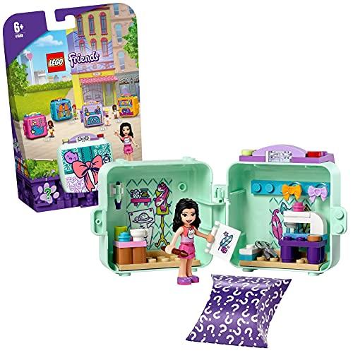 LEGO 41668 Friends Emmas Mode-Würfel, Kinderspielzeug, Spielzeug ab 6 Jahre mit Mini Modepuppe, Geschenk für Mädchen und Jungen
