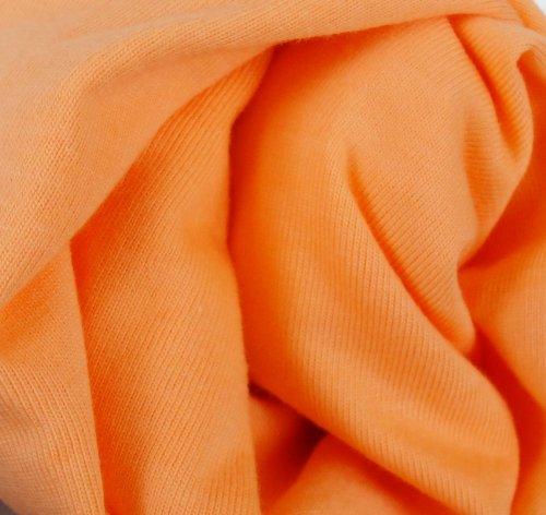 Babymajawelt Spannbetttuch Jersey 70x140-60x120 Spannbettlaken für Kinderbett orange