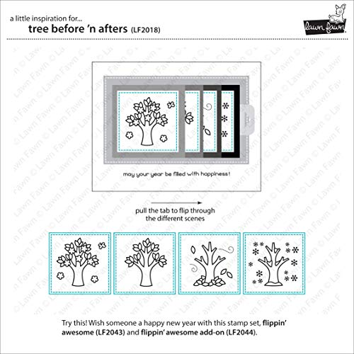 Lawn Fawn Tree Before 'n Afters 4'x6' Clear Stamp Set (LF2018)