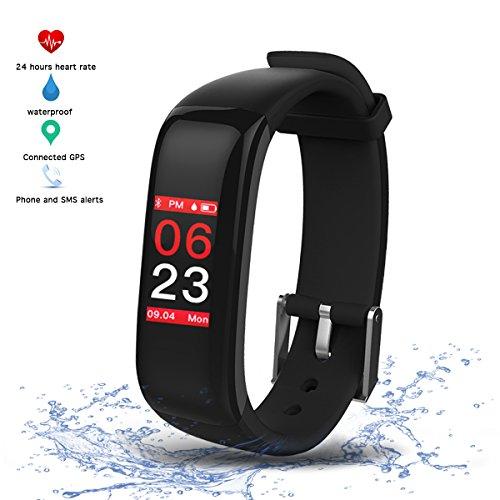 Virtoba Fitness Tracker Pulsera Inteligente Monitor con Pantalla Táctil en Color,Monitor de Latido del Corazón,Monitor de Sueño,Notificación/Podómetro