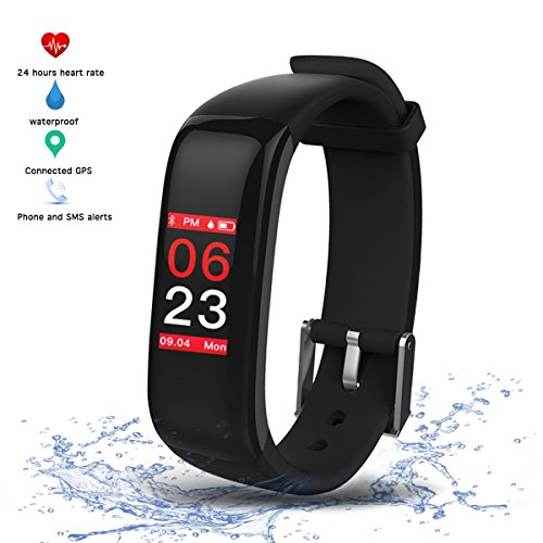 Activity Tracker Sport Braccialetto Intelligente Impermeabile Nuoto Cardio,Braccialetto Fitness con Touchscreen Colori,Pressione Sanguigna,Contapassi,Cronometro,Smartwatch Bluetooth perAndroid&iOS