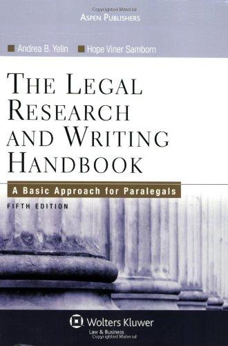 Legal Research & Writing Handbook