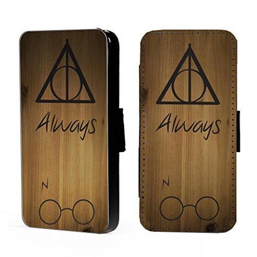 Harry Potter ALWAYS - IPHONE 4,5, C, S Funda de piel para teléfono Cartera Tarjetas / i.d espacio - iPhone 5c