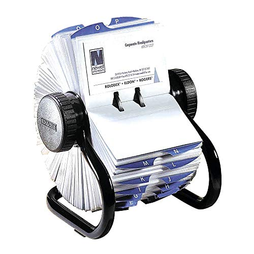 Rolodex Office Slotted Card File visitekaartregister zwart