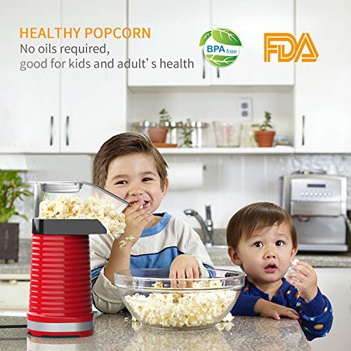 Product Image 4: Fast Hot Air Popcorn Popper With Top Cover,Electric Popcorn Maker Machine,Healthy & Delicious Snack For Family Gathering,Easy To Clean,ETL Certified,Safe