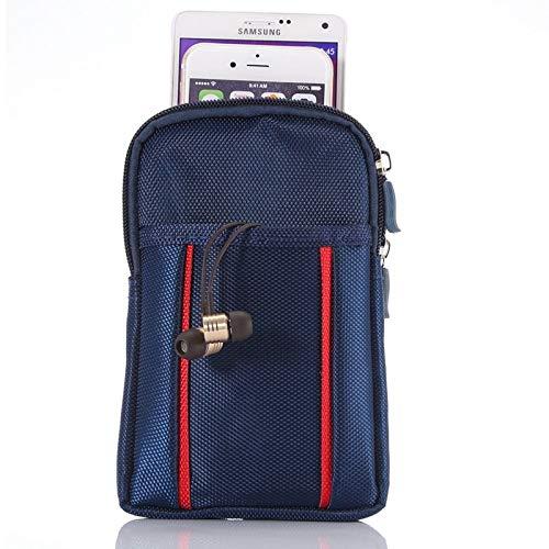 AS universele multifunctionele 6,3 inch dubbele rooster tweekleurige polyester parel materiaal opslag taille packs/taille tas/wandeltas/Camping tas voor iPhone X & 8 Plus & 7 & 7 Plus & iPhone 6 Plus