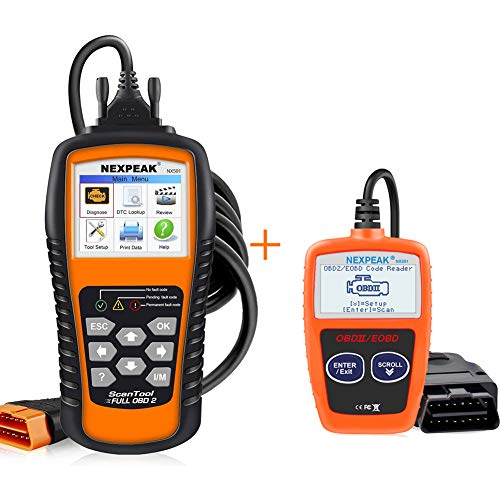 NEXPEAK Enahcned & Portable OBD2 Scanner NX501 Supports Battery Monitoring and Upgrade Online
