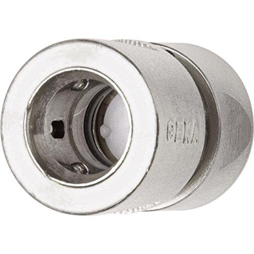 GEKA 743XSB Schlauchstück Stecksystem 3/4 Zoll MS NI mit Wasserstopp 19 mm, Silber, 18 x 8 x 13 cm