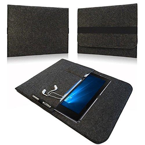 NAUC Sleeve Cover Hülle Samsung Galaxy TabPro S Tasche Notebook Filz Case dunkelgrau